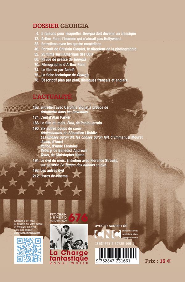 4ème de couverture du numéro 675 de l'Avant-Scène Cinéma - dossier Georgia d'Arthur Penn
