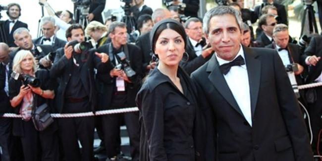 Mohsen Makhmalbaf et sa fille Samira Makhmalbaf sur le tapis rouge