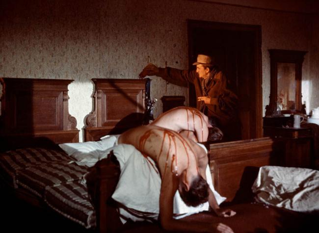 Luchino Visconti sur le tournage de Les Damnés