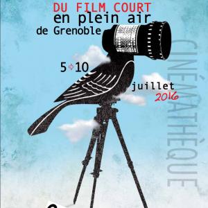 Affiche de la 39ème édition du festival du film court en plein air de Grenoble