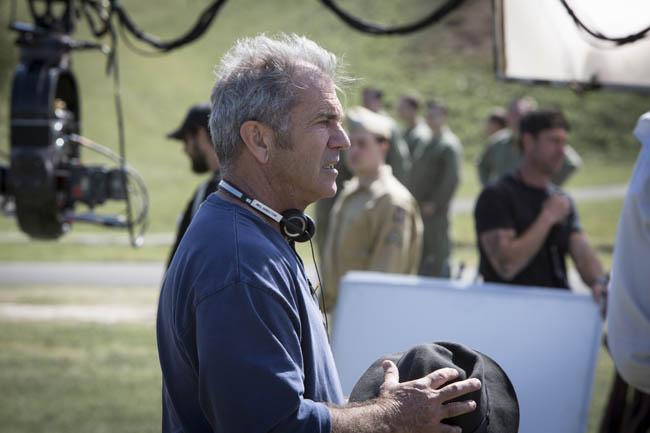 Mel Gibson sur le tournage de Tu ne tueras point