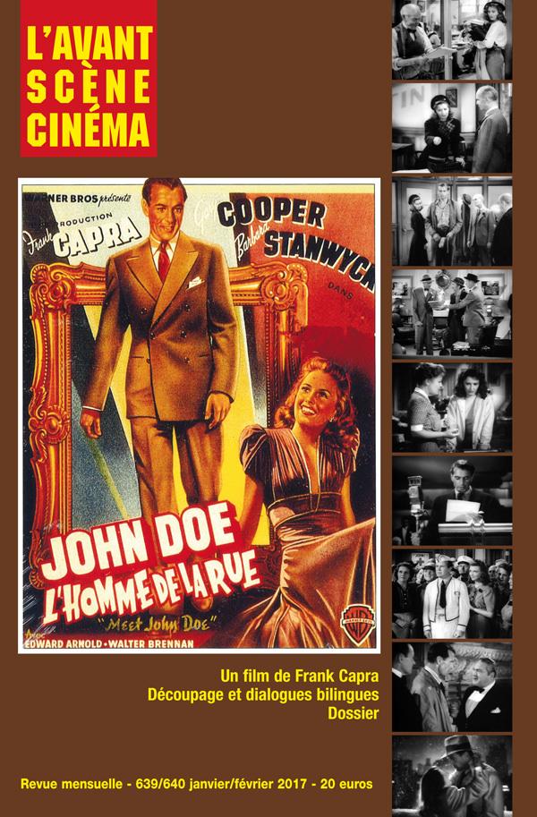 Couverture Numéro 639-640 de l'Avant-Scène Cinéma L'homme de la rue de Frank Capra