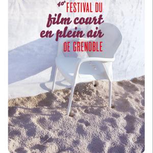 Affiche de la 40ème édition du Festival du court-métrage en plein air de Grenoble