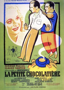 Affiche La petite chocolatière de Marc Allegret