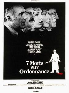Affiche Sept morts sur ordonnance de Jacques Rouffio