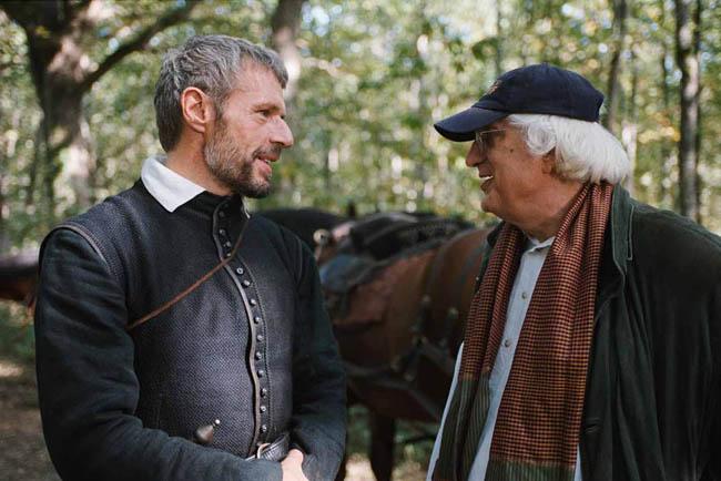 Bertrand Tavernier et Lambert Wilson sur le tournage de La Princesse de Montpensier