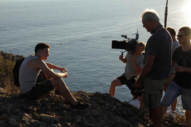 Laurent Cantet sur le tournage de L'atelier