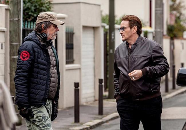Olvier Marchal et Benoît Magimel sur le tournage de Carbone