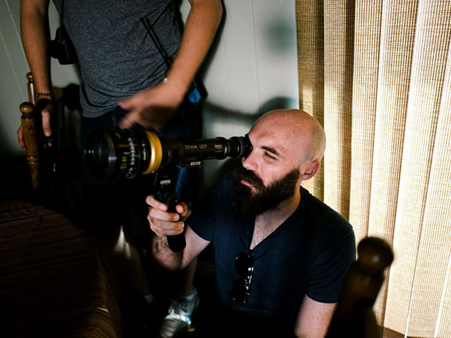 David Lowery sur le tournage de A ghost story