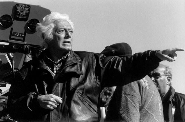 Portrait de Dino Risi en tournage