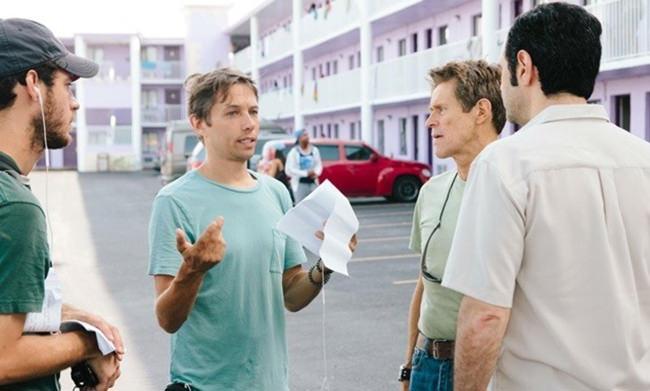 Sean Baker sur le tournage de The Florida project