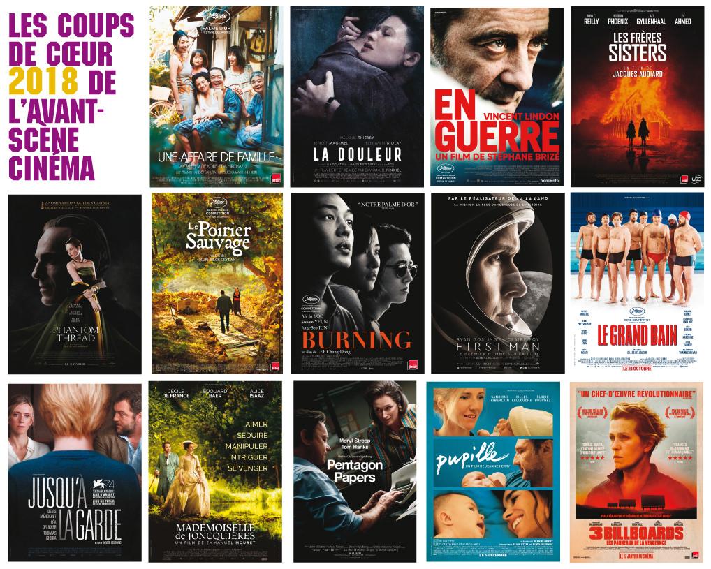 Les coups de coeur 2018 de la rédaction de l'Avant-Scène Cinéma