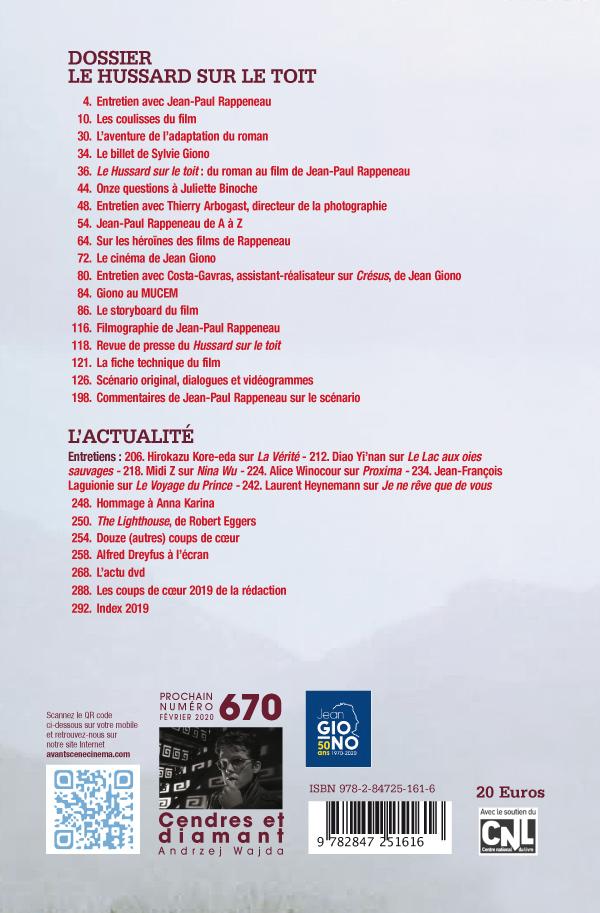 4ème couverture de l'Avant-Scène Cinéma 668 - 669 sur Le Hussard sur le toit