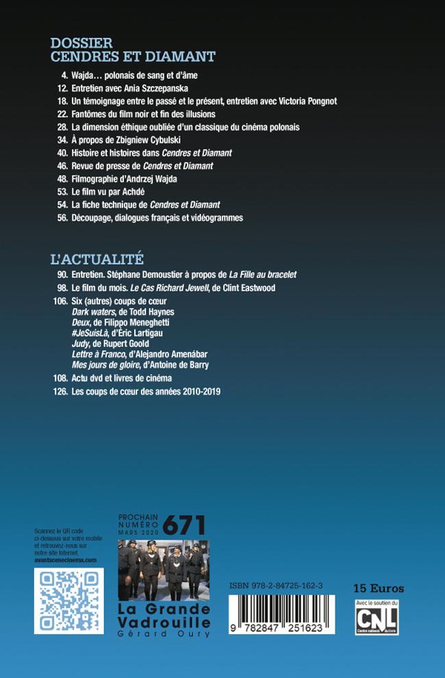 4ème de couverture de Cendres et diamant d'Andrzej Wajda