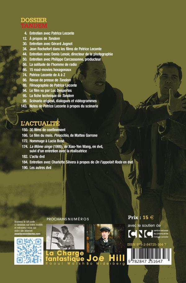 4ème Couverture Numéro 673 Avant-Scène Cinéma sur Tandem de Patrice Leconte