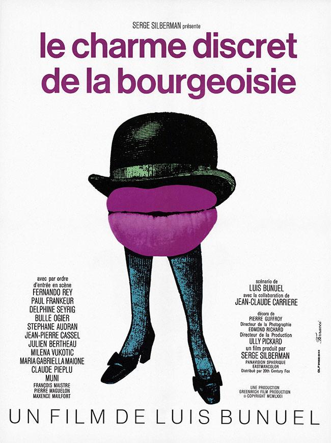 Affiche Le Charme discret de la bourgeoisie de Luis Bunuel
