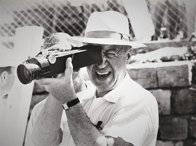 Otto Preminger sur un tournage
