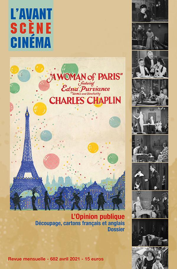 Couverture numéro 682 Avant-Scène Cinéma - A woman of Paris - Charlie Chaplin