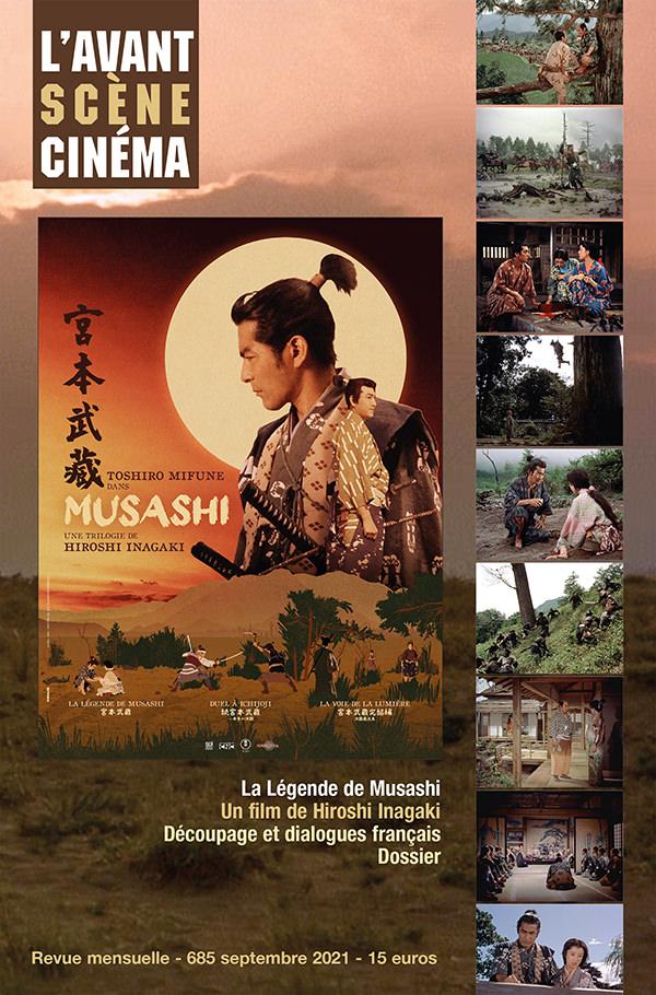 Couverture Numéro 685 de l'Avant-Scène Cinéma sur La légende de Musashi de Hiroshi Inagaki